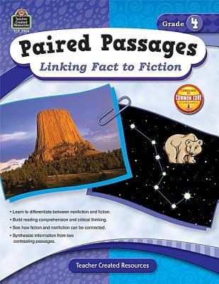 Image for Teacher Created Resources Paired Passages: Linking Fact to Fiction Book, Grade 4