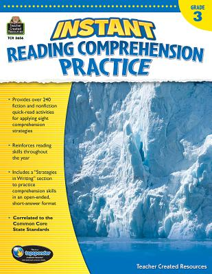 Image for Instant Reading Comprehension Practice Grade 3: Grade 3