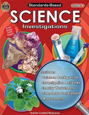 Image for Standards-Based Science Investigations Grd 4