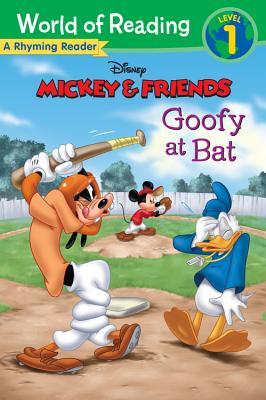 Mickey & Friends Goofy at Bat: A Rhyming Reader (World of Reading), Disney Book Group (Author), Susan Amerikaner  (Author), Disney Storybook Art Team (Illustrator)