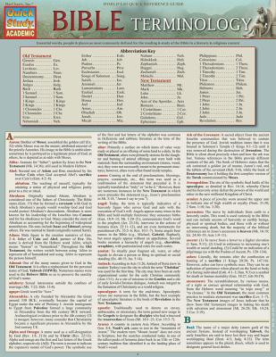 Image for Bible Terminology (Quick Study Academic)