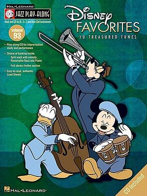 Image for Jazz Play-Along Disney Favorites Vol. 93 BK/CD