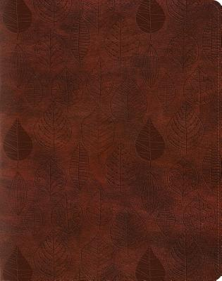 Image for Holy Bible English Standard Version Single Column Journaling Bible, Trutone, Chestnut, Leaves Design