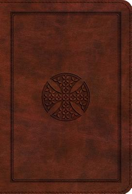 "Image for ""''ESV Large Print Compact Bible (TruTone, Brown, Mosaic Cross Design), soft imitation leather''"""