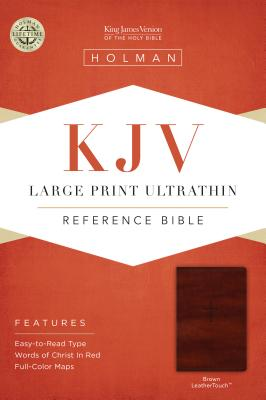 Image for KJV Large Print Ultrathin Reference Bible, Brown LeatherTouch