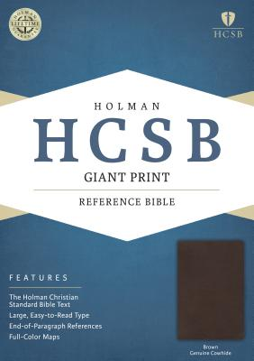 Image for HCSB Giant Print Reference Bible, Brown Genuine Cowhide