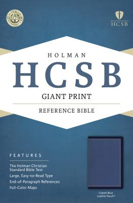Image for HCSB Giant Print Reference Bible, Cobalt Blue LeatherTouch
