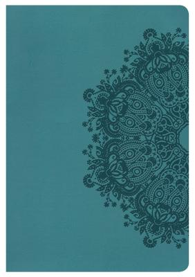 Image for HCSB Large Print Ultrathin Reference Bible, Teal LeatherTouch