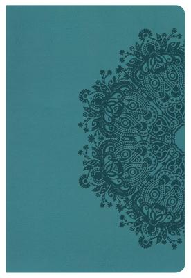 "Image for ""NKJV Large Print Personal Size Reference Bible, Teal LeatherTouch, Thumb-Indexed"""