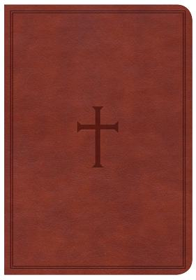Image for CSB Large Print Compact Reference Bible, Brown LeatherTouch
