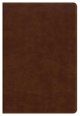 Image for CSB Large Print Ultrathin Reference Bible, British Tan LeatherTouch, Black Letter Edition