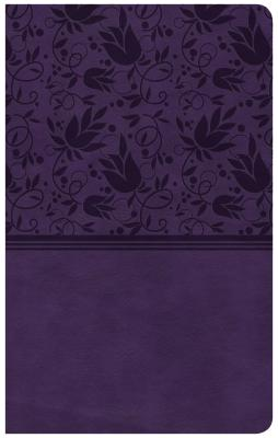 """Image for """"CSB Ultrathin Reference Bible, Purple Leathertouch"""""""
