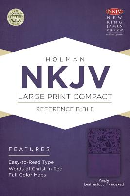 Image for NKJV Large Print Compact Reference Bible, Purple LeatherTouch, Indexed