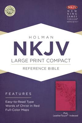 Image for NKJV Large Print Compact Reference Bible, Pink LeatherTouch, Indexed