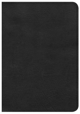 Image for CSB Large Print Compact Reference Bible, Black LeatherTouch