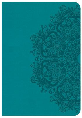Image for CSB Large Print Compact Reference Bible, Teal LeatherTouch