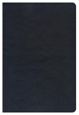Image for CSB Large Print Ultrathin Reference Bible, Black Premium Leather, Black Letter Edition, Indexed