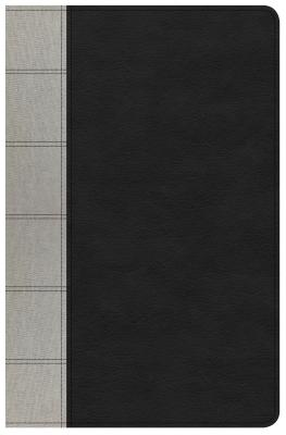 Image for NKJV Large Print Personal Size Reference Bible, Black/Gray Deluxe LeatherTouch