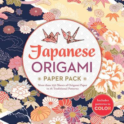 Image for Japanese Origami Paper Pack: More than 250 Sheets of Origami Paper in 16 Traditional Patterns