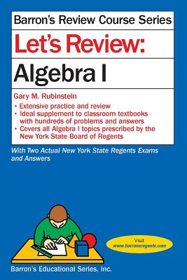 Image for Let's Review  Algebra 1