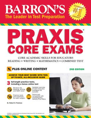 """Image for """"Barron's PRAXIS CORE EXAMS, 2nd Edition: Core Academic Skills for Educators with Online Test"""" (Barron's Praxis Core Exams (Core Academic Skills for Educators))"""