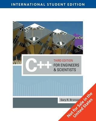 Image for C++ for Engineers and Scientists 3rd Edition Custom Edition