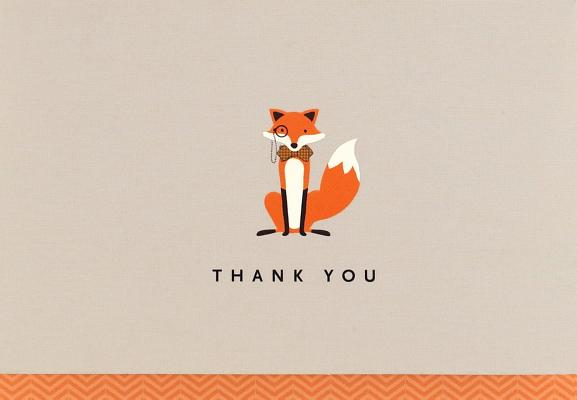 Dapper Fox Thank You Notes (Stationery, Note Cards, Boxed Cards), Peter Pauper Press, Inc.
