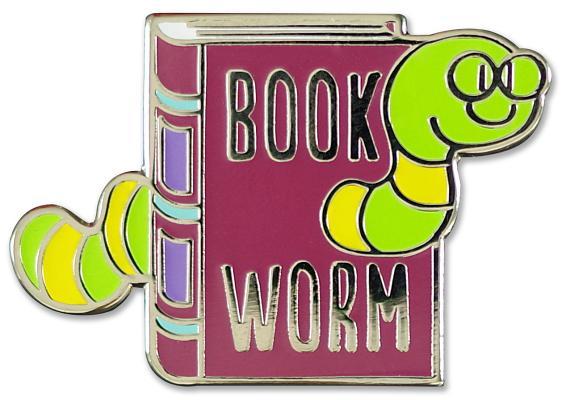 Image for Bookworm Hard Enamel Cloisonne Pin Set