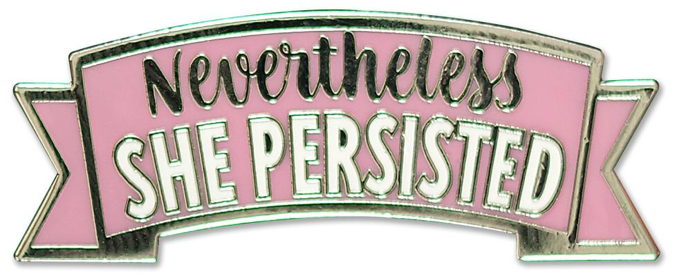 Image for Nevertheless, She Persisted Hard Enamel Cloisonne Pin Set