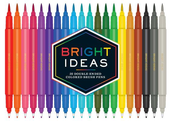 Image for Bright Ideas: 20 Double-Ended Colored Brush Pens: (Dual Brush Pens, Brush Pens for Lettering, Brush Pens with Dual Tips)