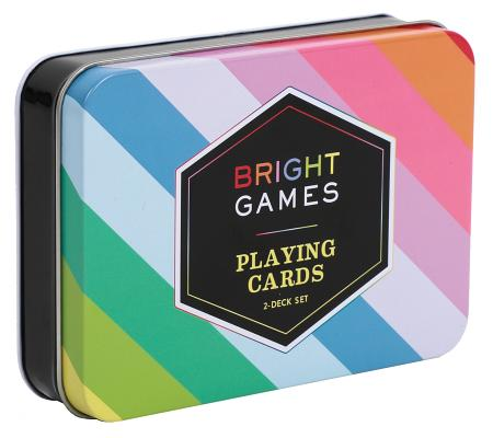 Image for Chronicle Books Bright Games 2-Deck Set of Playing Cards, Bright Colors