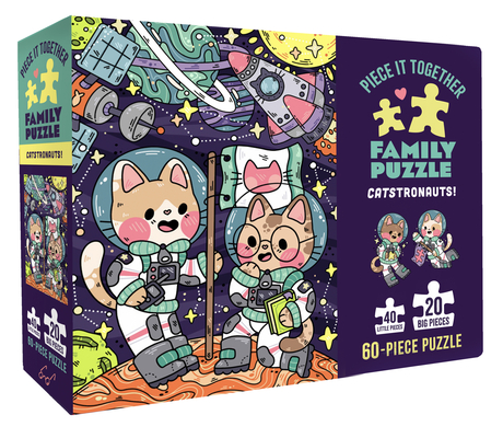 Image for Chronicle Books Piece It Together Family Puzzle: Catstronauts!, 1 EA