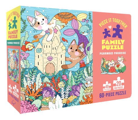 Image for Chronicle Books Piece It Together Family Puzzle: Purrmaid Paradise, 1 EA