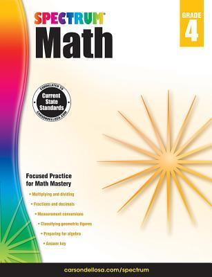 Image for Spectrum | Math Workbook | 4th Grade, 160pgs