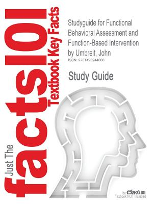 Image for Studyguide for Functional Behavioral Assessment and Function-Based Intervention by Umbreit, John, ISBN 9780131149892