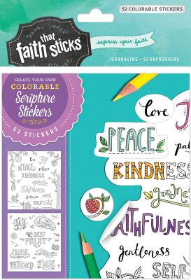 Image for Galatians 5:22 Colorable Stickers