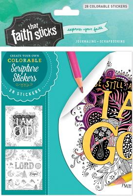 Image for Psalm 46:10 Colorable Stickers
