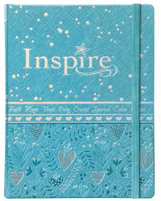 "Image for ""NLT Inspire Bible for Girls, Leatherlike Hardcover, Blue"""