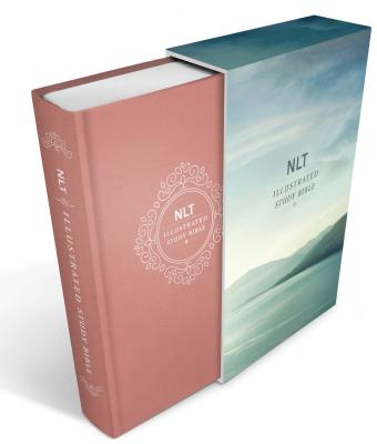 "Image for ""''NLT Illustrated Study Bible, Deluxe Blush Rose Linen Harcover with Slipcase''"""