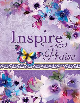 "Image for ""NLT Inspire PRAISE Bible, Purple Imitation Leather with Floral Design"""