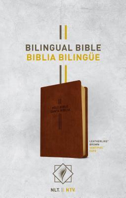 Image for Bilingual Bible / Biblia bilingüe NLT/NTV (LeatherLike, Brown) (Spanish and English Edition)