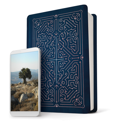 Image for Filament Bible NLT (LeatherLike, Navy/Rose Gold): The Print+Digital Bible