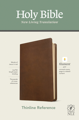 Image for NLT Thinline Reference Holy Bible (Red Letter, LeatherLike, Rustic Brown): Includes Free Access to the Filament Bible App Delivering Study Notes, Devotionals, Worship Music, and Video
