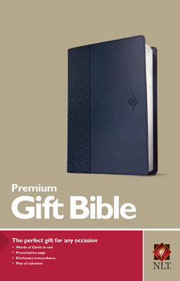 Image for Premium Gift Bible NLT (Red Letter, LeatherLike, Blue)