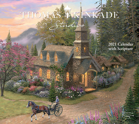 Image for Thomas Kinkade Studios 2021 Deluxe Wall Calendar with Scripture