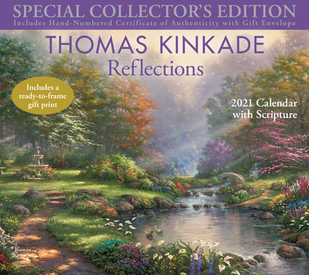 Image for Thomas Kinkade Special Collector's Edition with Scripture 2021 Deluxe Wall Calen: Reflections