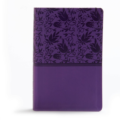 Image for KJV Large Print Personal Size Reference Bible, Purple Leathertouch