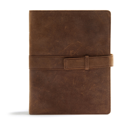 Image for CSB Legacy Notetaking Bible, Tan Genuine Leather with Strap