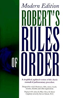 Image for Robert's Rules of Order: Modern Edition