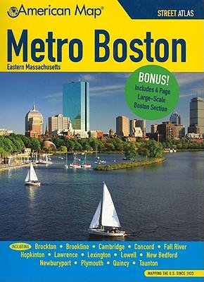 American Map Metro Boston Eastern Massachusetts, Map, American